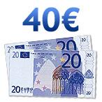 Chèque de 40 euros