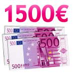 Chèque de 1500 euros