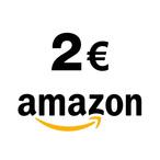 Profitez de ce chèque cadeau de 2 euros pour vous faire plaisir sur le site www.amazon.fr