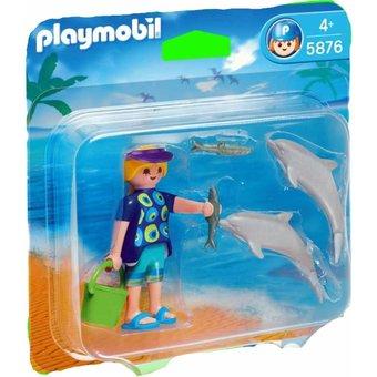1 playmobil vacanciere / dauphin 5876
