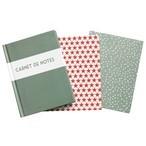 Carnet de notes avec couverture rigide 3 motifs differents  Un seul carnet sera envoye.  2,04 euros? reverses au Telethon
