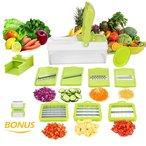 ? 11 EN 1 MANDOLINE de CUISINE ? prend en charge plus de 11 fonctions, couper en petits morceaux, émincer, découper en dés, éplucheur, râper, hacher etc, comprend une variété d'épais et mince émincer options, fines et grossières, râper et déchiqueter les options. S'applique à presque tous les fruits et légumes. Par exemple: courgettes, poivrons, oignons, pomme de terre, radis, concombre, fromage, autres légumes, citron, et pomme etc. ! Économique !