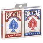 1 jeu de cartes bleu et 1 rouge Les cartes de jeu favoris de chaque magicien et joueurs de cartes Face standard La finition sp?ciale de ces cartes les rend r?sistantes au temps et faciles ? manipuler Rev?tement rigide