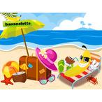 Amenez la plage sur votre ordinateur gr?ce ? ce joli fond d'?cran Bananalotto !