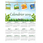 Calendrier 2019 € imprimer