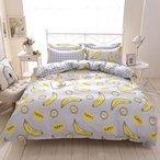 1 parure de lit banane