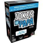 Mais c?est quoi une Joke de papa ? Soyons clair, c?est une blague pourrie, celle que pourrait faire ton p?re quoi... Mais c?est aussi une s?rie de vid?os Qu?b?coises r?alis?es par l??quipe Gaboom (? d?couvrir d?urgence si vous ne connaissez pas, c?est bon de rire parfois !). Dans ces vid?os, 2 ?quipes s?affrontent dans une bataille de blagues sans merci. Ce jeu est l?adaptation de ces vid?os ? succ?s.