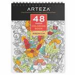 ARTEZA? Livre ? colorier ? Reliure Spirale pour Adultes, 48 Pages, Id?al pour soulagement du Stress