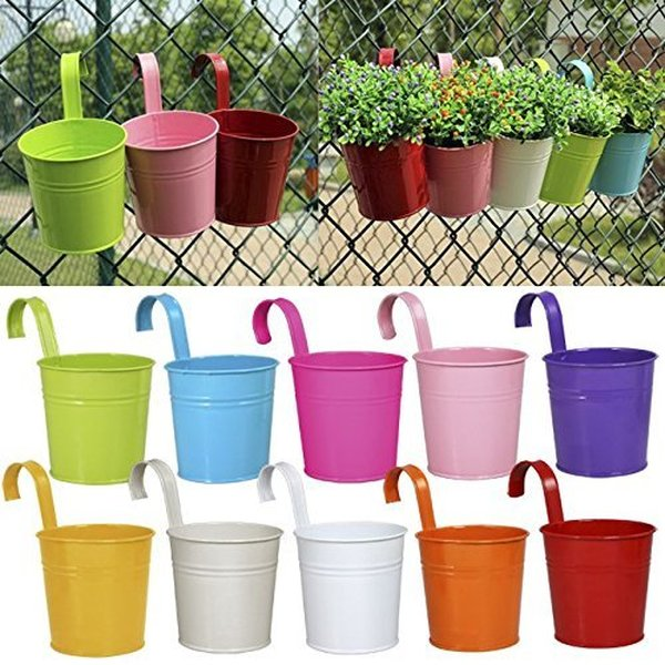 1 lot de pots de fleurs color?s
