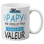 Mug Mon Papy Ne Vieillit Il Prend De La Valeur Hauteur 9,5 cm / diam?tre 8 cm