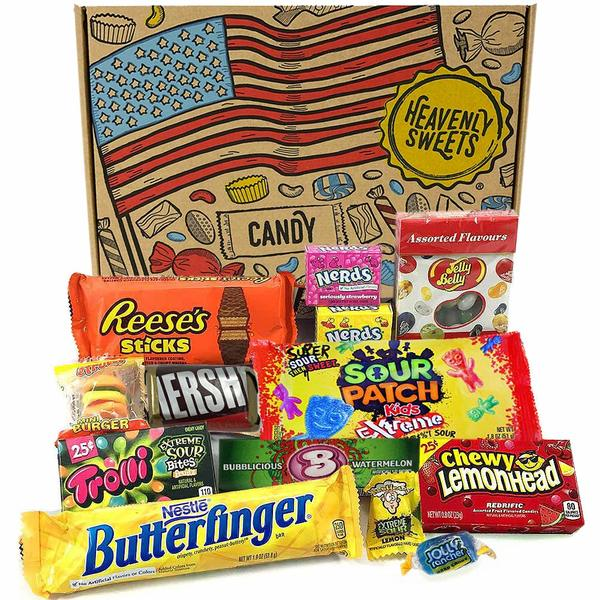 Un coffret de bonbons USA