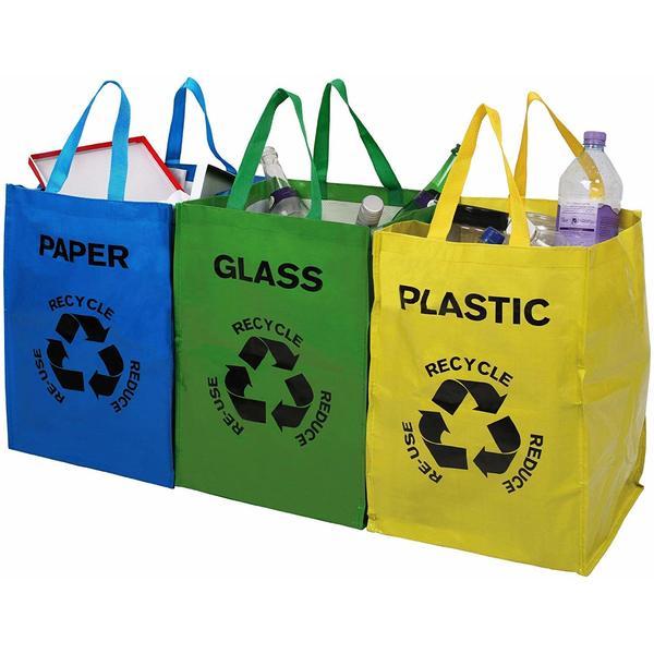 Un set de sac de recyclage