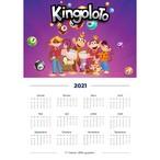 Calendrier 2021 violet € imprimer