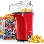 Syst?me d'air chaud & grande capacit?: AICOOK machine de pop-corn 1400W utilise l'air chaud pour rapidement produire 16 cups de pop-corn en moins de trois minutes, un chauffage uniforme