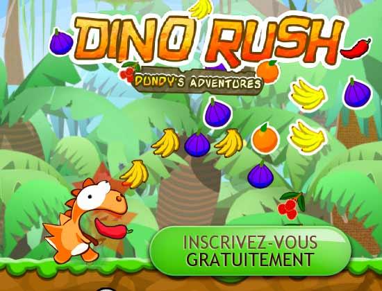 Dinorush landing