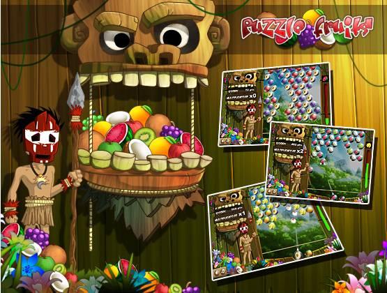 Puzzle Fruit landing